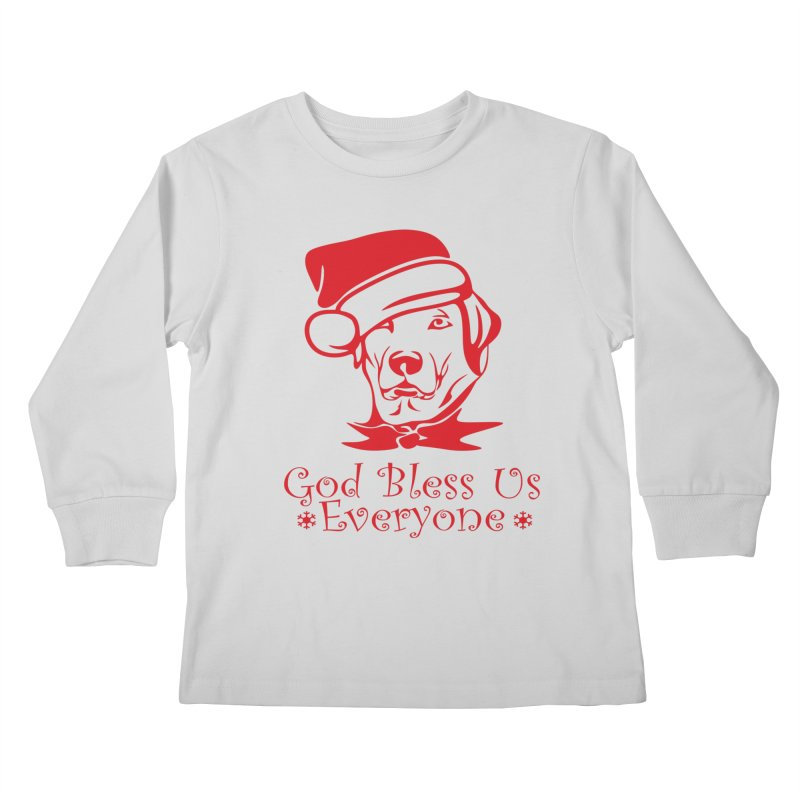God Bless Us Everyone Kids Longsleeve T-Shirt by Divinitium's Clothing and Apparel