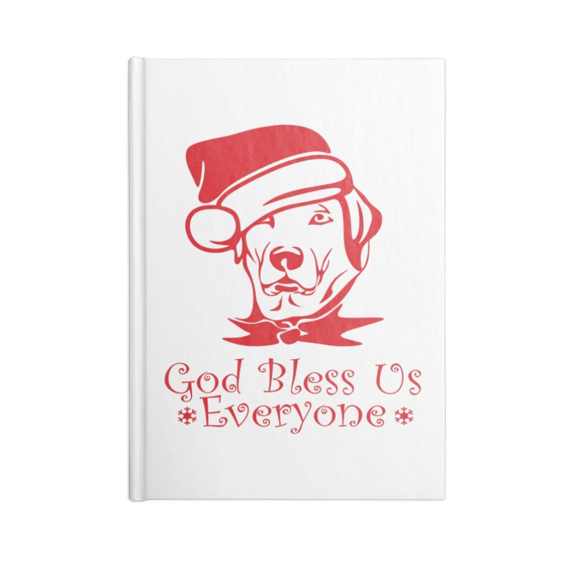 God Bless Us Everyone Accessories Notebook by Divinitium's Clothing and Apparel