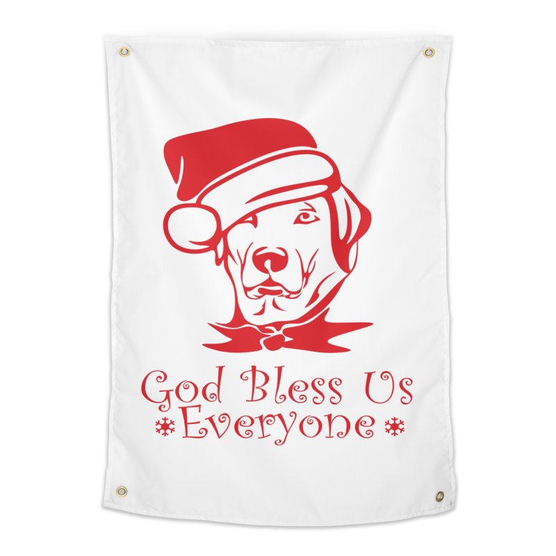God Bless Us Everyone Home Tapestry by Divinitium's Clothing and Apparel
