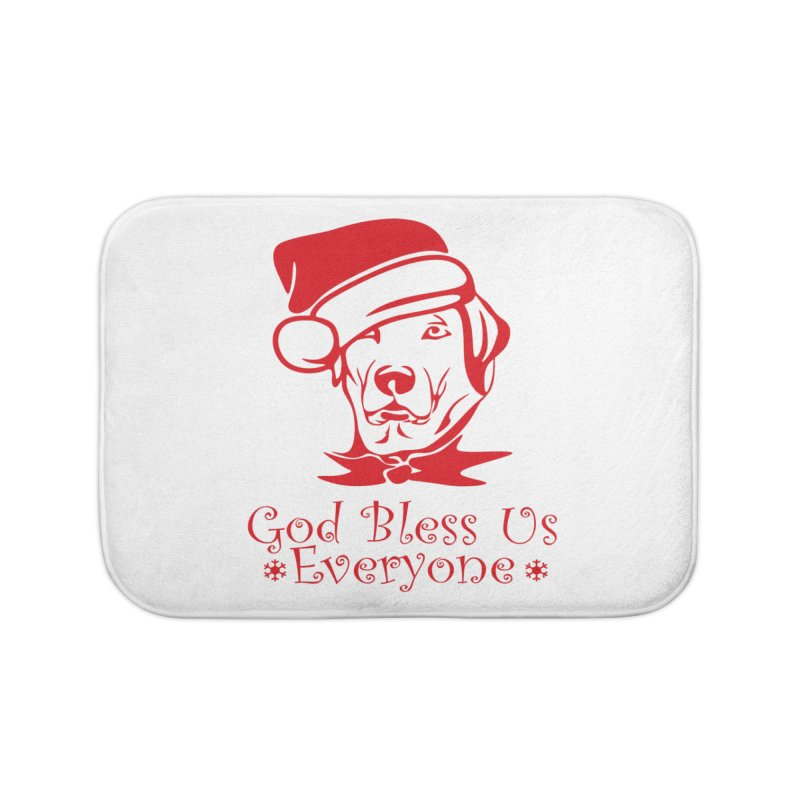 God Bless Us Everyone Home Bath Mat by Divinitium's Clothing and Apparel