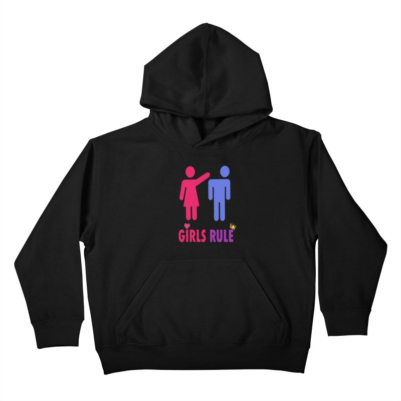 Girls Rule Kids Pullover Hoody by Divinitium's Clothing and Apparel