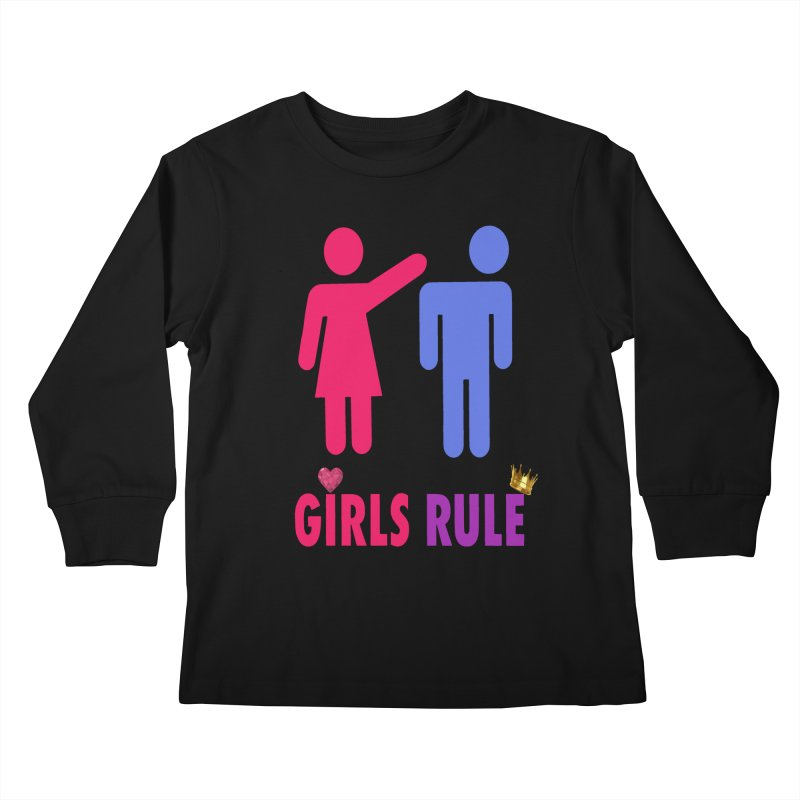 Girls Rule Kids Longsleeve T-Shirt by Divinitium's Clothing and Apparel
