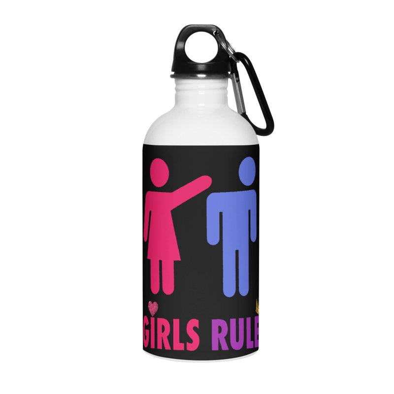 Girls Rule Accessories Water Bottle by Divinitium's Clothing and Apparel