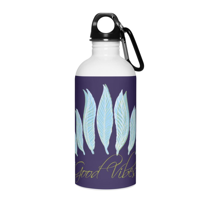 Good Vibes Accessories Water Bottle by Divinitium's Clothing and Apparel