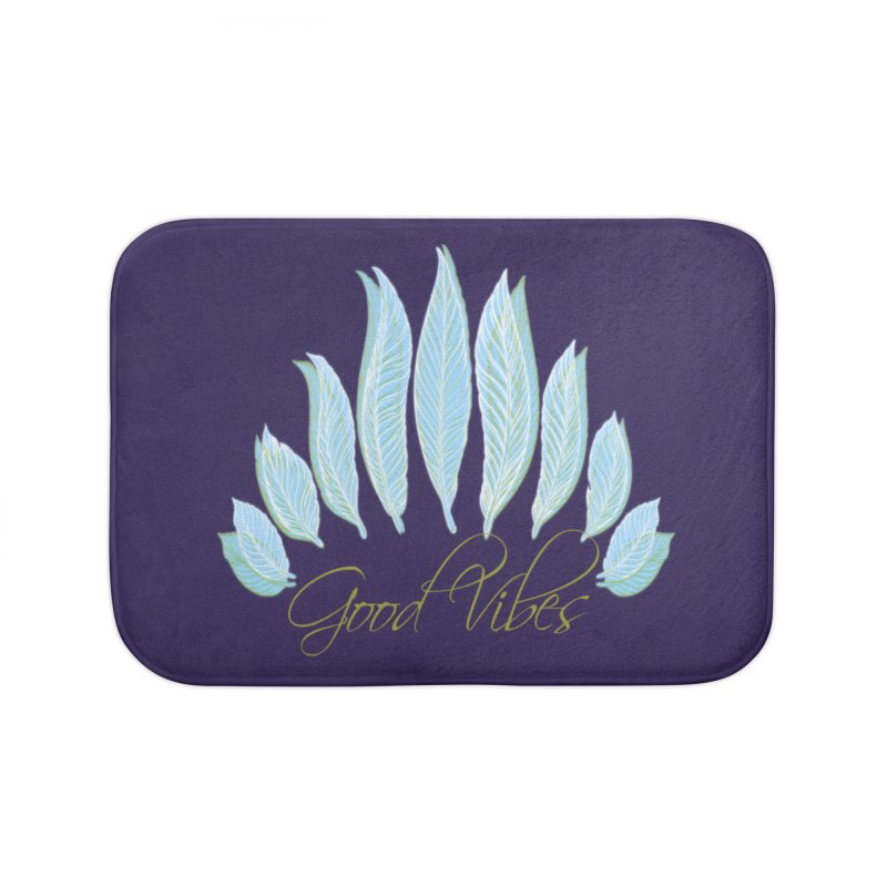 Good Vibes Home Bath Mat by Divinitium's Clothing and Apparel
