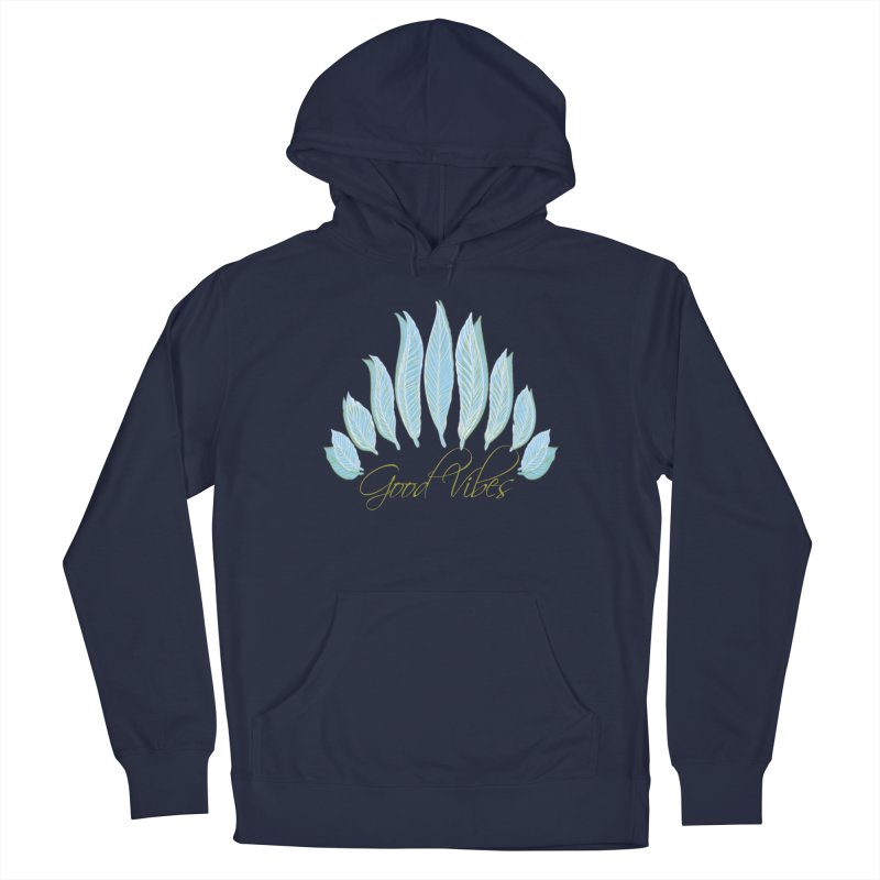 Good Vibes Men's Pullover Hoody by Divinitium's Clothing and Apparel