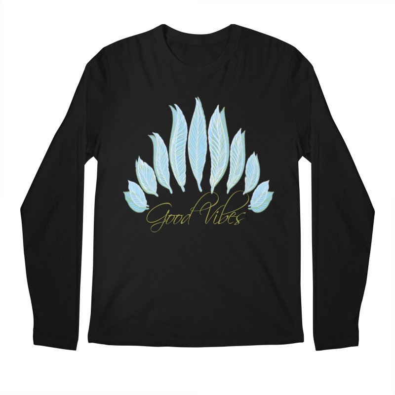 Good Vibes Men's Longsleeve T-Shirt by Divinitium's Clothing and Apparel
