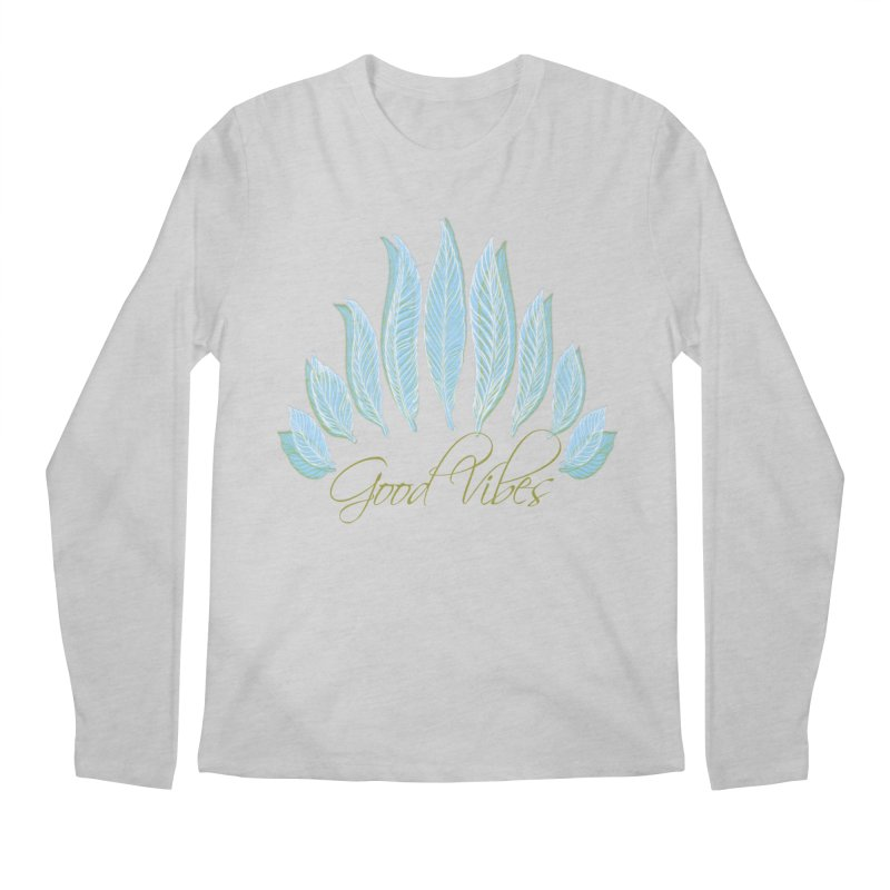 Good Vibes Men's Regular Longsleeve T-Shirt by Divinitium's Clothing and Apparel