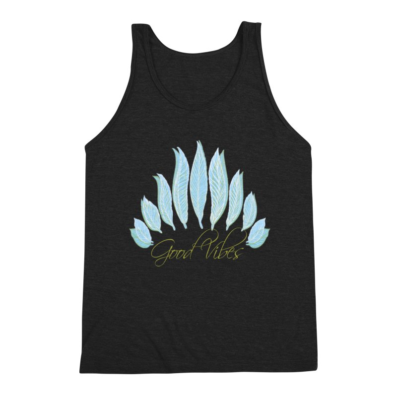 Good Vibes Men's Tank by Divinitium's Clothing and Apparel
