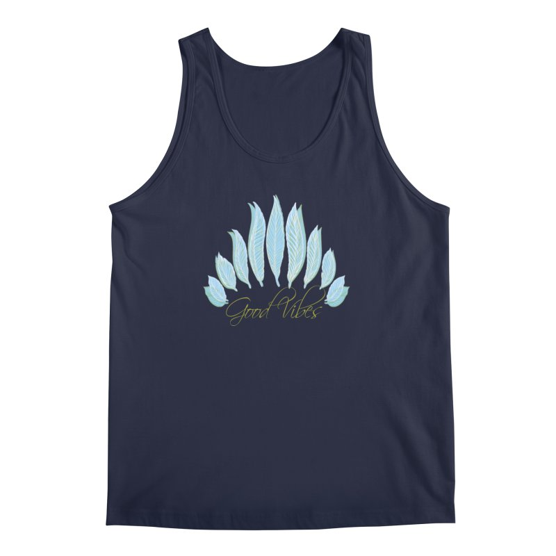 Good Vibes Men's Regular Tank by Divinitium's Clothing and Apparel