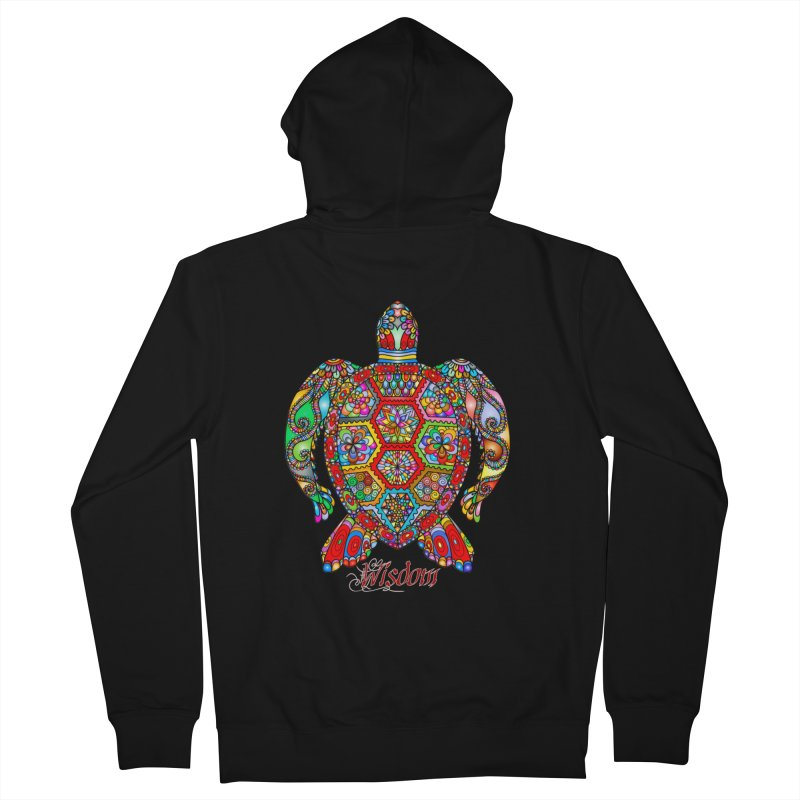Wisdom Men's French Terry Zip-Up Hoody by Divinitium's Clothing and Apparel