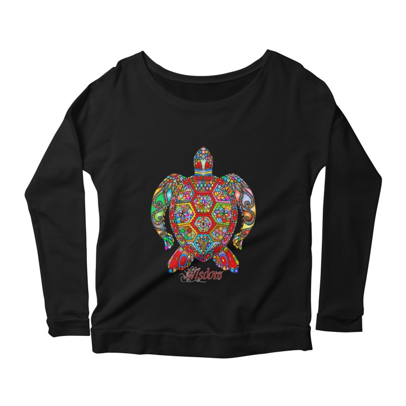 Wisdom Women's Scoop Neck Longsleeve T-Shirt by Divinitium's Clothing and Apparel