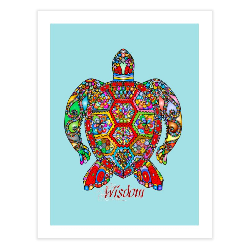 Wisdom Home Fine Art Print by Divinitium's Clothing and Apparel