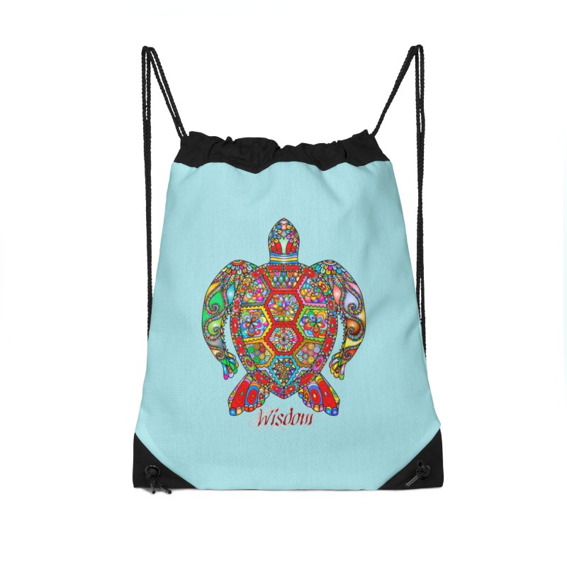 Wisdom Accessories Drawstring Bag Bag by Divinitium's Clothing and Apparel
