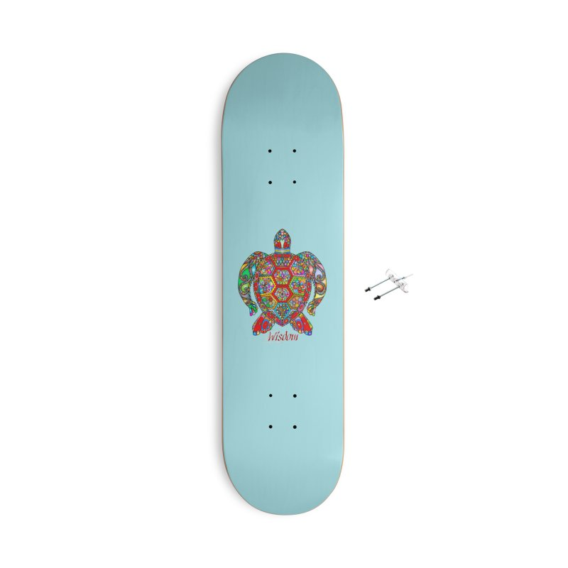 Wisdom Accessories With Hanging Hardware Skateboard by Divinitium's Clothing and Apparel