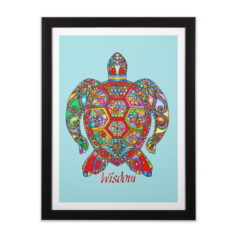 Wisdom Home Framed Fine Art Print by Divinitium's Clothing and Apparel
