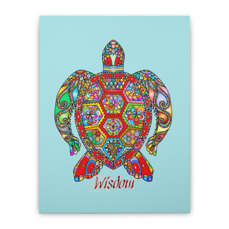 Wisdom Home Stretched Canvas by Divinitium's Clothing and Apparel