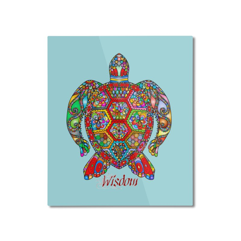 Wisdom Home Mounted Aluminum Print by Divinitium's Clothing and Apparel