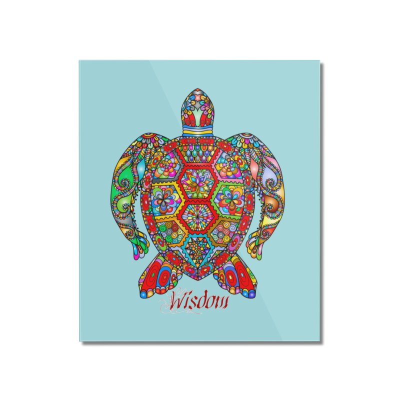 Wisdom Home Mounted Acrylic Print by Divinitium's Clothing and Apparel