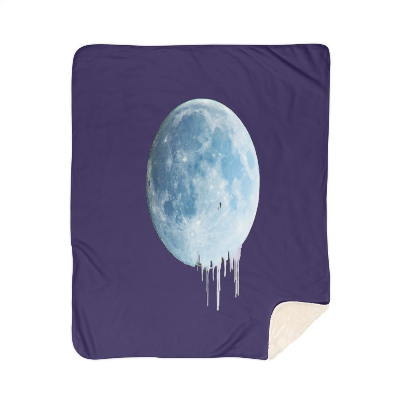 Moon Drops Home Sherpa Blanket Blanket by Divinitium's Clothing and Apparel