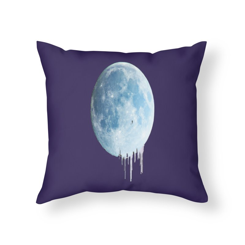 Moon Drops Home Throw Pillow by Divinitium's Clothing and Apparel