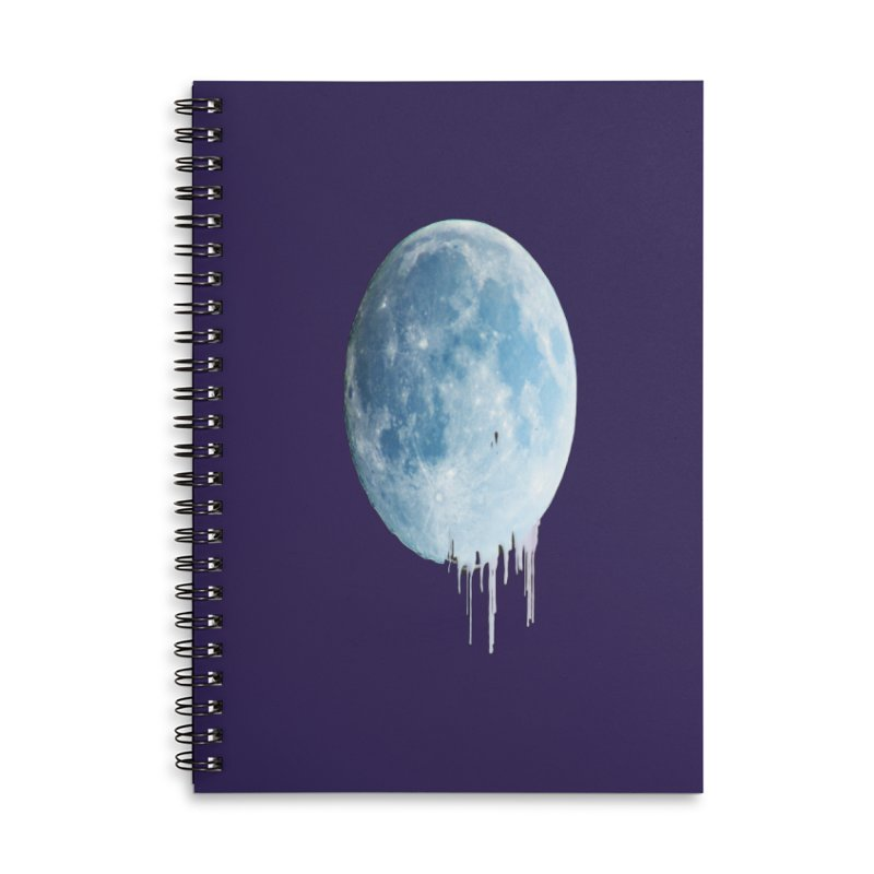 Moon Drops Accessories Lined Spiral Notebook by Divinitium's Clothing and Apparel