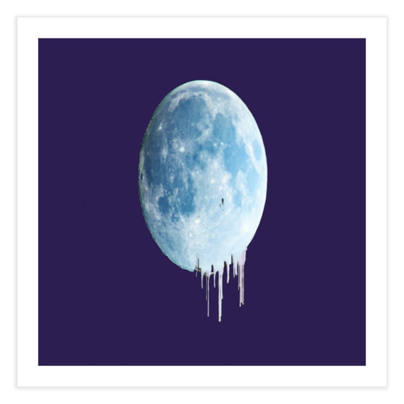 Moon Drops Home Fine Art Print by Divinitium's Clothing and Apparel