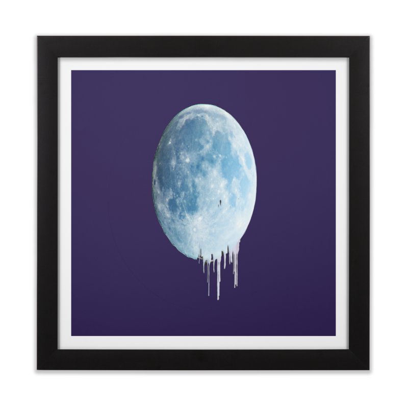 Moon Drops Home Framed Fine Art Print by Divinitium's Clothing and Apparel