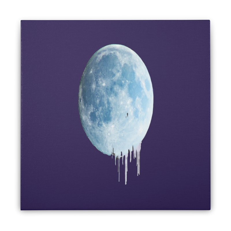 Moon Drops Home Stretched Canvas by Divinitium's Clothing and Apparel