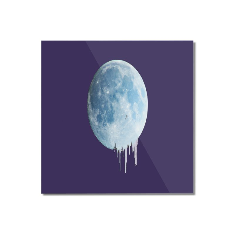Moon Drops Home Mounted Acrylic Print by Divinitium's Clothing and Apparel