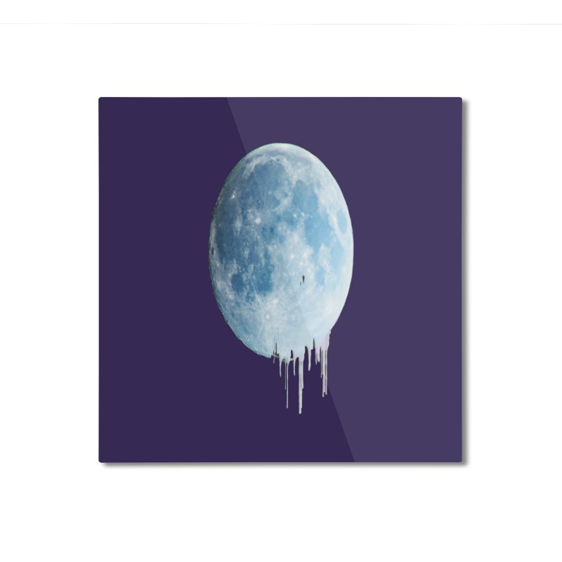 Moon Drops Home Mounted Aluminum Print by Divinitium's Clothing and Apparel