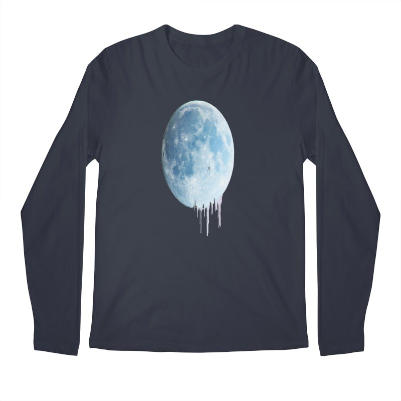 Moon Drops Men's Regular Longsleeve T-Shirt by Divinitium's Clothing and Apparel