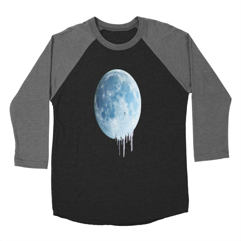 Moon Drops Men's Baseball Triblend Longsleeve T-Shirt by Divinitium's Clothing and Apparel