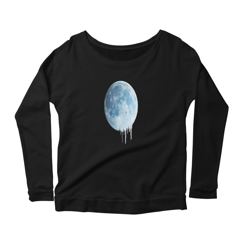 Moon Drops Women's Scoop Neck Longsleeve T-Shirt by Divinitium's Clothing and Apparel