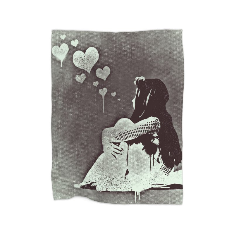 Lonely Heart Home Blanket by Divinitium's Clothing and Apparel