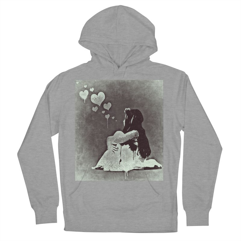 Lonely Heart Women's French Terry Pullover Hoody by Divinitium's Clothing and Apparel