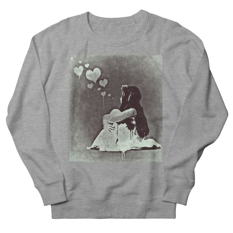 Lonely Heart Women's French Terry Sweatshirt by Divinitium's Clothing and Apparel