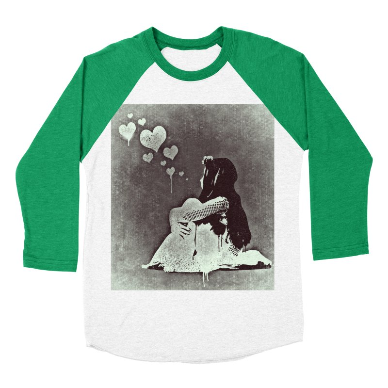 Lonely Heart Women's Baseball Triblend Longsleeve T-Shirt by Divinitium's Clothing and Apparel