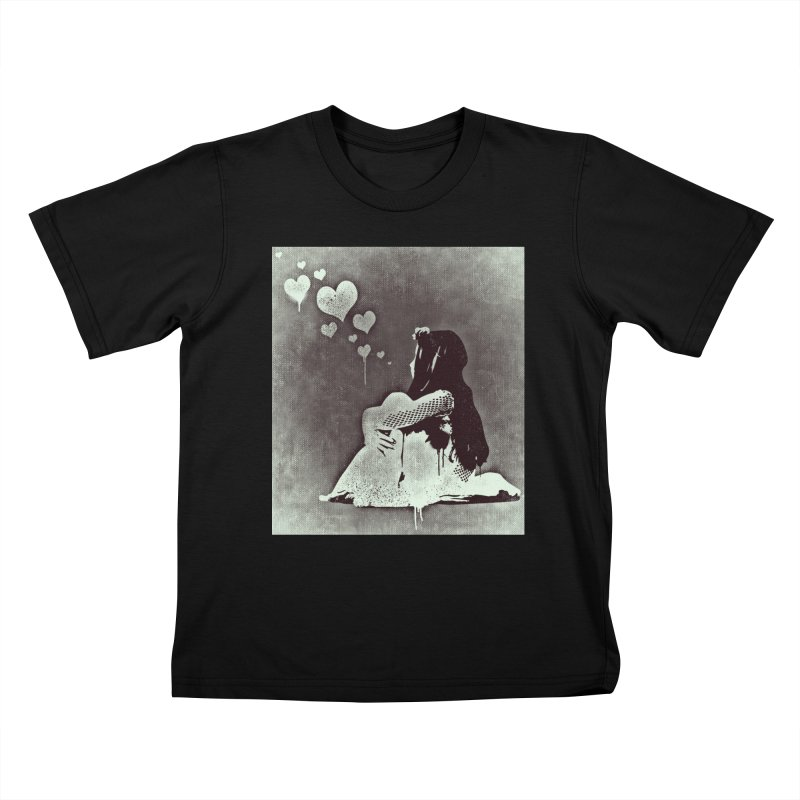 Lonely Heart Kids T-Shirt by Divinitium's Clothing and Apparel