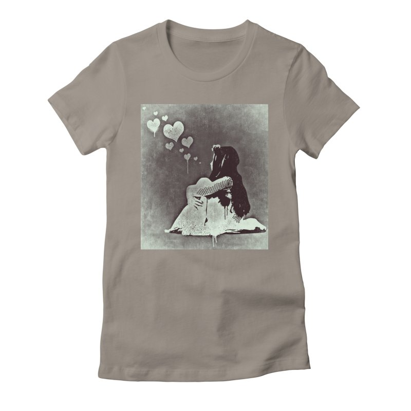 Lonely Heart Women's Fitted T-Shirt by Divinitium's Clothing and Apparel