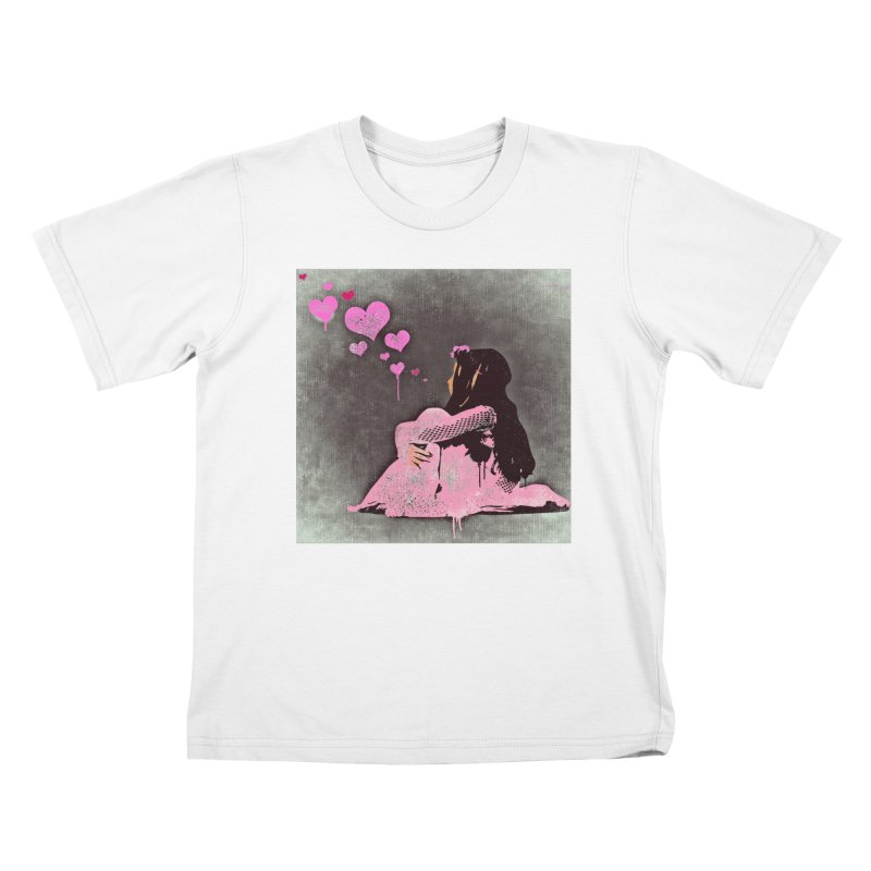 Lonely Heart (Pink) Kids T-Shirt by Divinitium's Clothing and Apparel