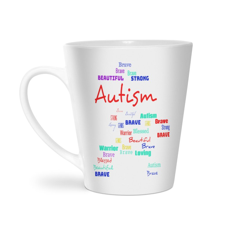 Beautiful Strong Autism Accessories Mug by Divinitium's Clothing and Apparel