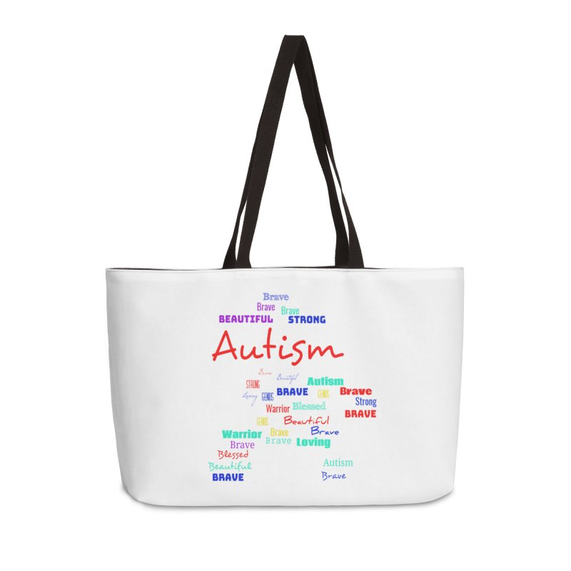 Beautiful Strong Autism Accessories Weekender Bag Bag by Divinitium's Clothing and Apparel