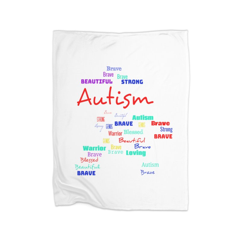 Beautiful Strong Autism Home Blanket by Divinitium's Clothing and Apparel