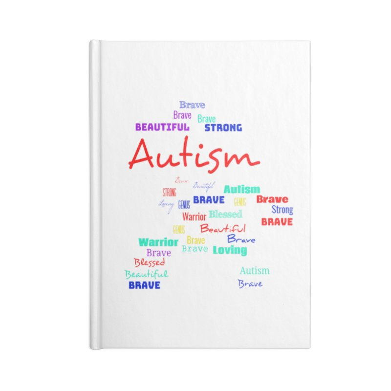 Beautiful Strong Autism Accessories Blank Journal Notebook by Divinitium's Clothing and Apparel