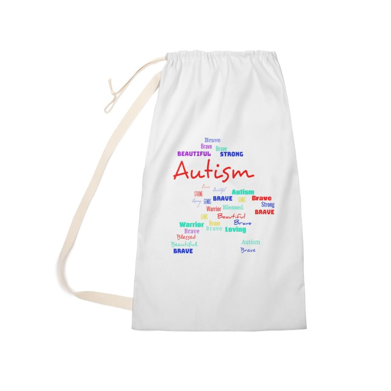 Beautiful Strong Autism Accessories Laundry Bag Bag by Divinitium's Clothing and Apparel