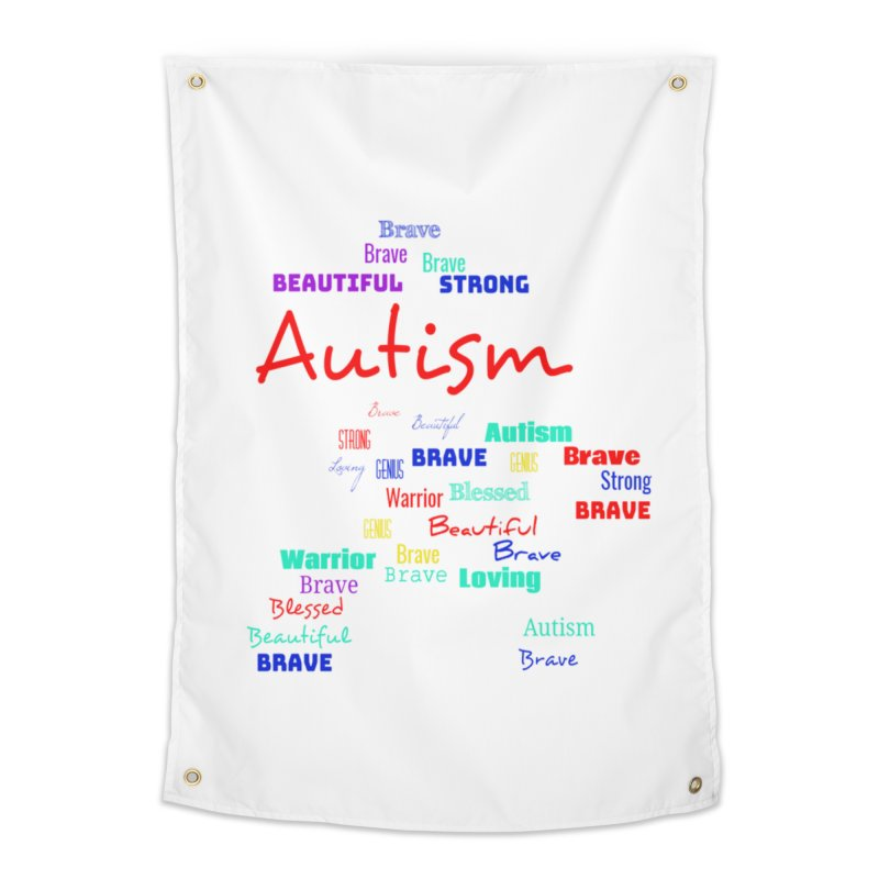 Beautiful Strong Autism Home Tapestry by Divinitium's Clothing and Apparel