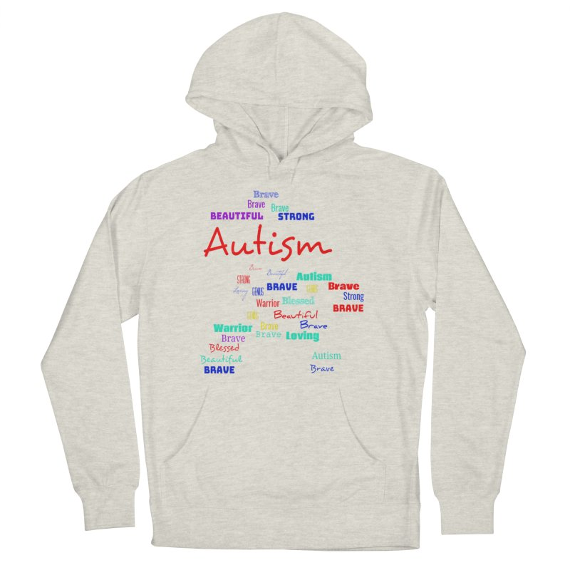 Beautiful Strong Autism Men's French Terry Pullover Hoody by Divinitium's Clothing and Apparel
