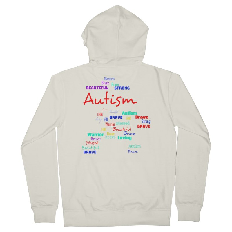Beautiful Strong Autism Men's French Terry Zip-Up Hoody by Divinitium's Clothing and Apparel