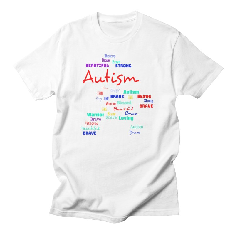 Beautiful Strong Autism Men's T-Shirt by Divinitium's Clothing and Apparel